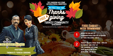 Thanksgiving Turkey Community Giveaway tickets