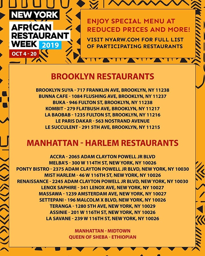 African Restaurant Week Festival image