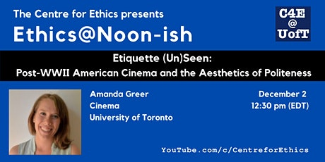 Amanda Greer, Post-WWII American Cinema and the Aesthetics of Politeness tickets