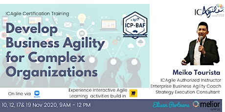 Training: Develop Business Agility for Complex Organization tickets