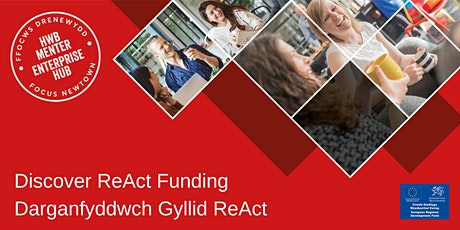 Discover ReAct Funding | Darganfyddwch Gyllid ReAct tickets