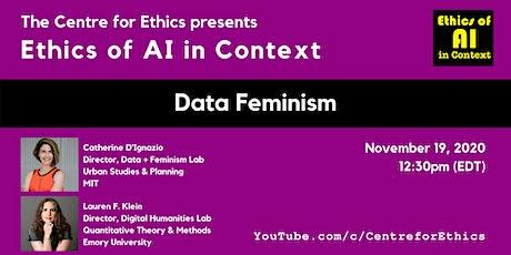 Catherine D'Ignazio and Lauren F. Klein, Data Feminism tickets