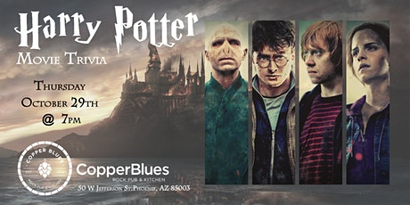 Harry Potter Movie Trivia at Copper Blues Rock Pub & Kitchen tickets