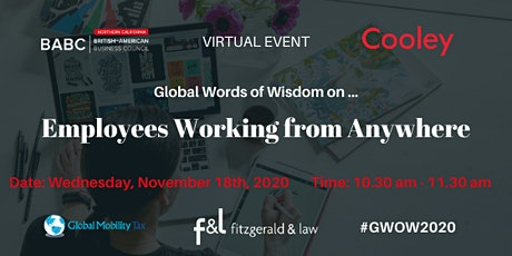 Global Words of Wisdom on … Employees Working From Anywhere #GWOW20 tickets