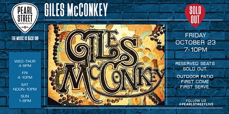 Live at Pearl Street Warehouse! Giles McConkey tickets