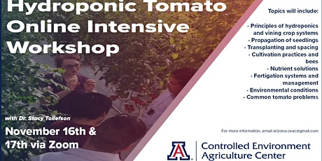 UA-CEAC Hydroponic Tomato Online Intensive Workshop tickets
