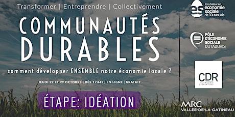 Idéateur : communautés durables billets