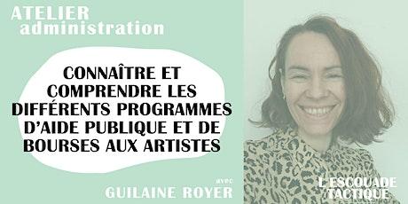 Atelier - bourses dédiés aux artistes des arts du spectacle billets