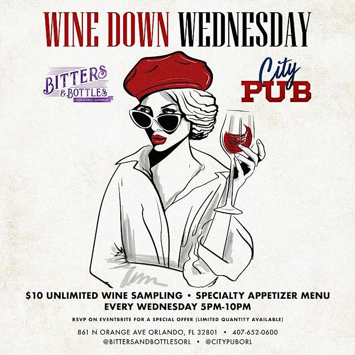 Wine Down Wednesday | City PUB - Bitters & Bottles | 861 N Orange Ave image