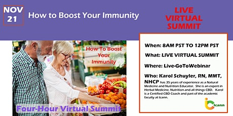 Boost Your Immunity-four-hour LIVE Virtual Summit tickets