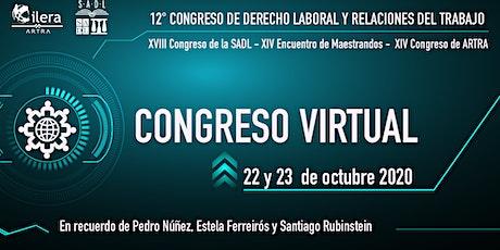 12° Congreso de Derecho Laboral y Relaciones del Trabajo | EXTRANJEROS entradas