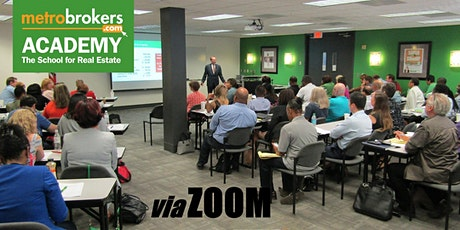 Real Estate Pre-License Course - Virtual Day / Accelerated (Curtis York) tickets