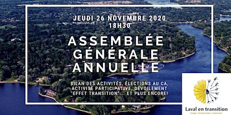 Assemblée générale annuelle virtuelle 2020 - Laval en transition billets