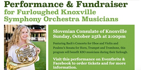 Performance and Fundraiser for Furloughed Knoxville Symphony Musicians tickets