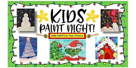 Kids'Light Up Paint Night  (lights are added to the  canvases) tickets