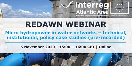 Micro hydropower in water networks-case studies from REDAWN (prerecorded) tickets