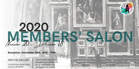 Opening Reception: 2020 Members' Salon, November 20th tickets