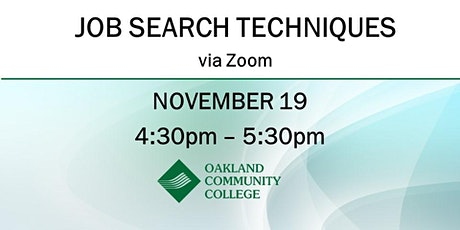 Job Search Techniques tickets