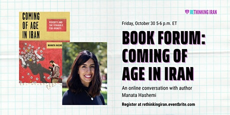 Book Forum: Coming of Age in Iran by Manata Hashemi tickets