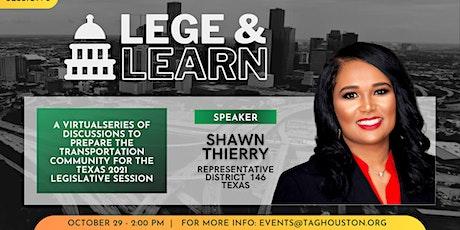 TAG Lege & Learn - Shawn Thierry tickets