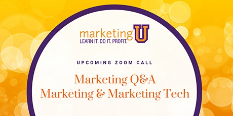 Free Q&A: Marketing & Marketing Technology tickets