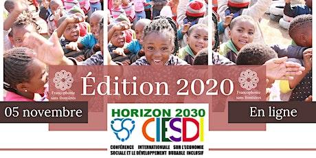 Entreprendre en mode coopératif, inclusif  et durable/Horizon2030 - CIESDI2 billets