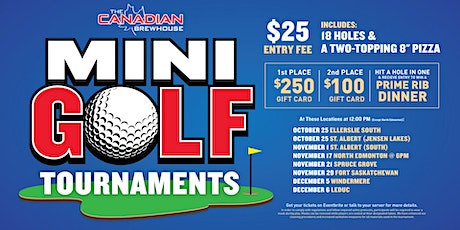 Leduc Mini Golf Tournament tickets