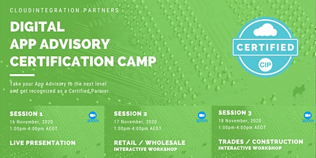 CI Partners 2020 Digital Intro to App Advisory Certification Camp tickets