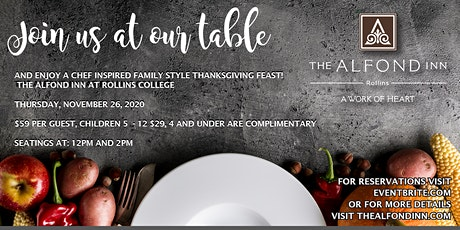 Thanksgiving at The Alfond Inn tickets