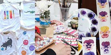 Koori Teens' creative workshop: tshirt painting, card making or general art tickets