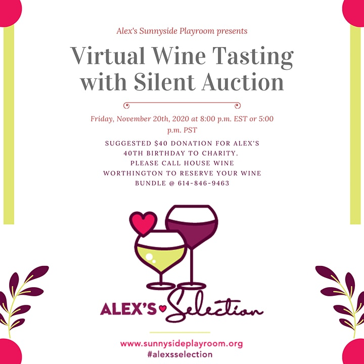 Virtual Wine Tasting with Silent Auction image