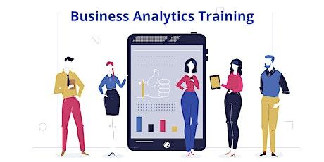 4 Weeks Business Analytics Training Course in Orange tickets