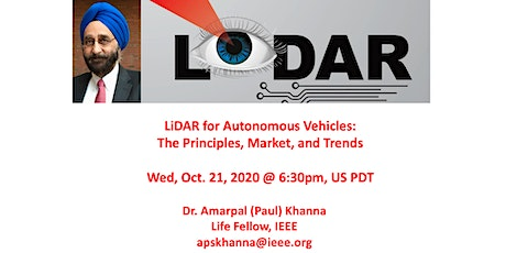 LiDAR for Autonomous Vehicles: The Principles, Market, and Trends tickets