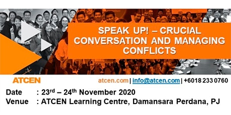 SPEAK UP! – Crucial Conversation and Managing Conflicts tickets