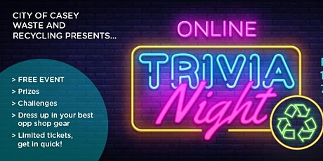 Waste and Recycling Trivia Night tickets