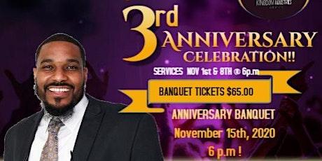 Kingdom Ministries 3rd Anniversary Banquet tickets