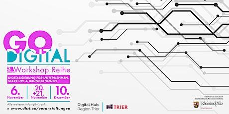 Go Digital:  Wie platziere ich mich heute mit Website und Content Tickets