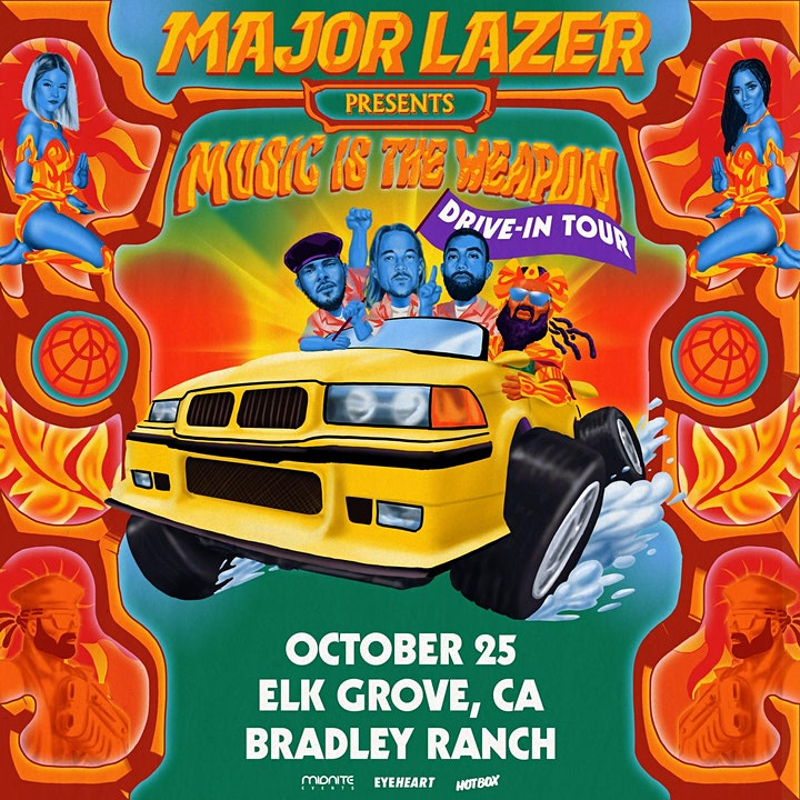 MAJOR LAZER: Music Is The Weapon Drive-In Tour (Elk Grove, CA) image