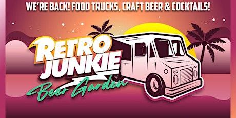 New Retro Junkie Outdoor Beer Garden w Live Music, Food Trucks + Craft Beer tickets