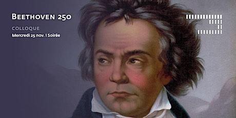 Beethoven 250 - Colloque - 25 nov. - Soirée billets
