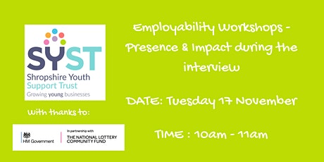 Employability Skills Workshops-Make an impact in your interview. tickets