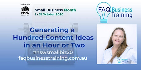 Generating a Hundred Content Ideas in an Hour or Two | FAQBT tickets