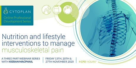 Nutrition and lifestyle interventions to manage musculoskeletal pain tickets