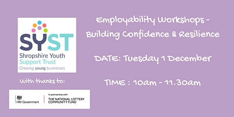 Coaching Employability Programme:- Building Confidence and Resilience tickets