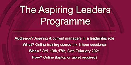 The Aspiring Leaders Programme tickets