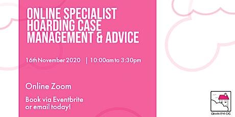 Online Specialist Hoarding Case Management & Advice tickets
