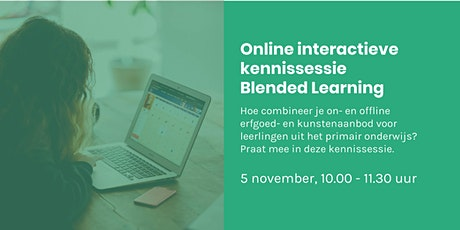 Online interactieve kennissessie Blended Learning tickets