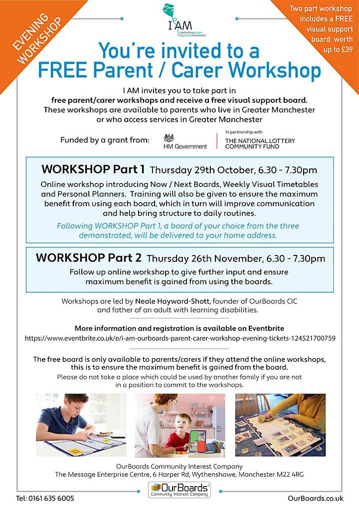 I AM OurBoards Parent Carer Workshop (evening) image