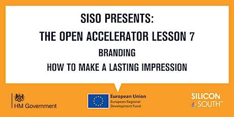 Open Accelerator Workshop 7 - Branding tickets