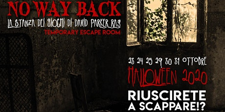 No Way Back. Temporary Escape Room (genere Horror) biglietti